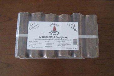 Paquete de briquetas Ecológicas de 10 kg
