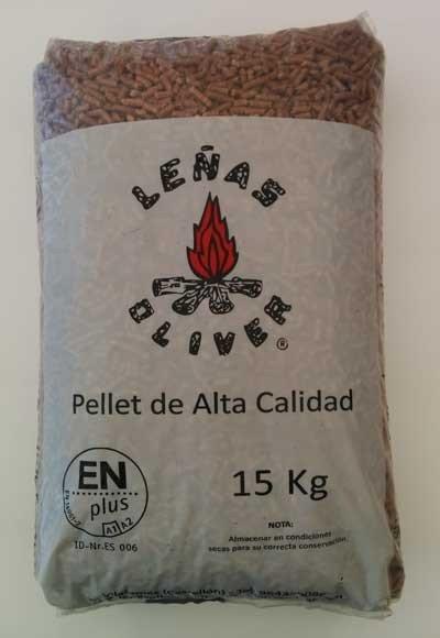 Saco de pellets en plus a1 para estufas y calderas - Sacos de pellets ...
