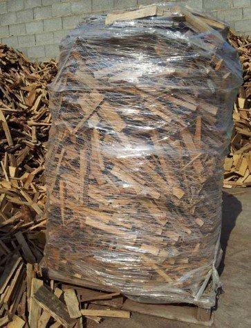 Leña a granel para encender el fuego paletizada 2 m3