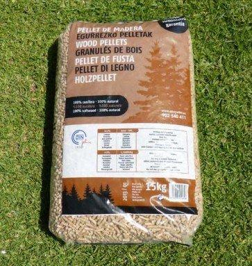 Pellets ebepellet saco de 15 kg tienda biomasa - Pellets precio kilo ...