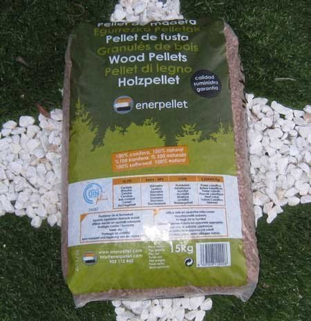 Pellets enerpellet saco de 15 kg tienda biomasa - Sacos de pellets ...