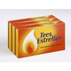 Caja de cerillas extralargas (3 und)